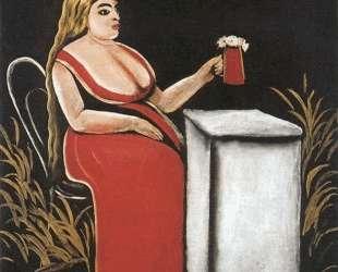 Женщина с кружкой пива — Нико Пиросмани