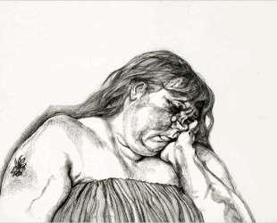 Женщина с татуировкой на плече — Люсьен Фрейд