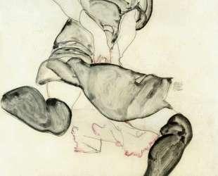 Woman with Black Stockings — Эгон Шиле