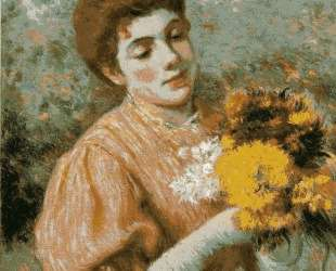 Woman with bouquet — Федерико Дзандоменеги