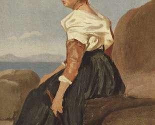 Женщина с мандолиной — Камиль Коро