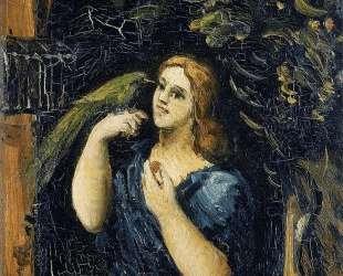 Woman with Parrot — Поль Сезанн