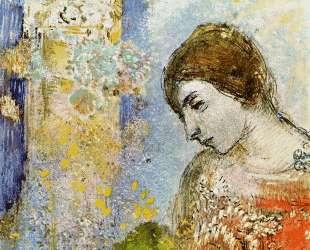Woman with Pillar of Flowers — Одилон Редон