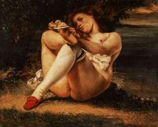 Женщина в белых чулках — Гюстав Курбе