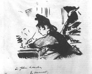 Woman writing — Эдуард Мане
