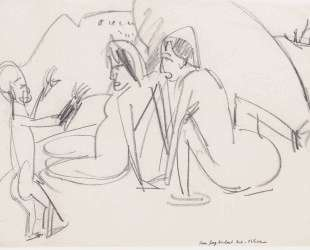 Women and Sculptures on the Beach — Эрнст Людвиг Кирхнер