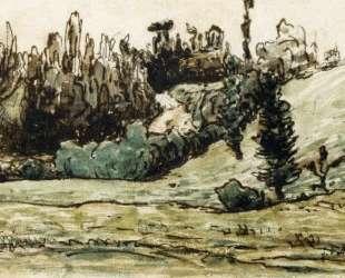 Лесистый склон близ Виши — Жан-Франсуа Милле