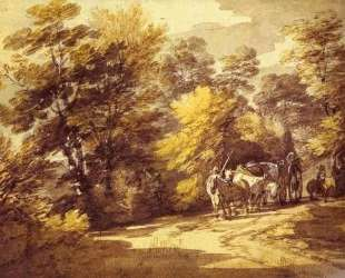 Wooded Landscape with a Waggon in the Shade — Томас Гейнсборо