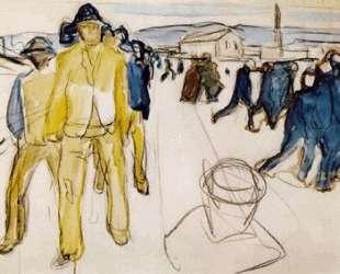 Рабочие на пути домой I — Эдвард Мунк