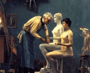Working in Marble, or The Artist Sculpting Tanagra — Жан-Леон Жером