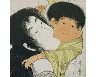 Yama uba and Kintaro — Китагава Утамаро