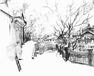 Yard at winter — Михаил Врубель