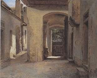 Yard of the old, Heumuller, in Vienna — Фердинанд Георг Вальдмюллер