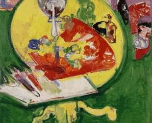 Yellow Table on Green — Ганс Гофман