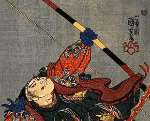 Yorimasa shooting at the monster Nuye — Утагава Куниёси