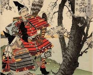 Yoshitsune with benkei — Цукиока Ёситоси