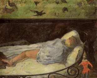 Девочка спит (Этюд спящей девочки) — Поль Гоген