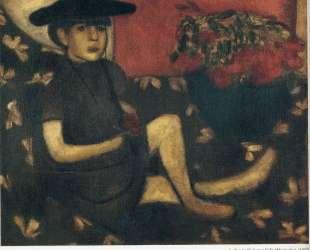 Девочка на софе (Марьяска) — Марк Шагал