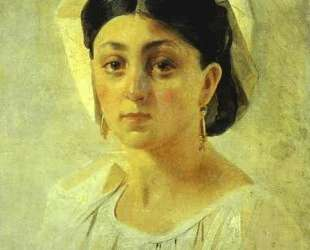 Young Italian Woman in a Folk Costume, Study — Николай Ге