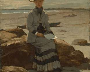 Young Lady on the Beach — Уиллард Меткалф