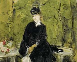 Young Lady Seated on a Bench — Берта Моризо