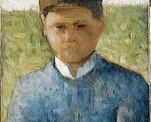 Молодой крестьянин в синем — Жорж Сёра