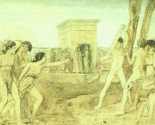Юные спартанцы тренируются — Эдгар Дега