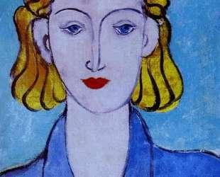Young Woman in a Blue Blouse (Portrait of L. N. Delektorskaya) — Анри Матисс
