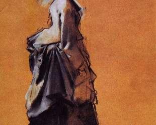 Молодая женщина в выходном платье — Эдгар Дега