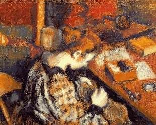 Young Woman Sewing — Жорж Леммен