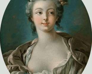 Девушка с цветами в волосах (иногда неправильно называют Портрет мадам Буше) — Франсуа Буше