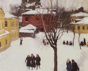 Проходной двор в Замоскворечье. Серый день — Игорь Грабарь