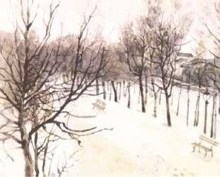 Зубовский бульвар зимой — Василий Суриков