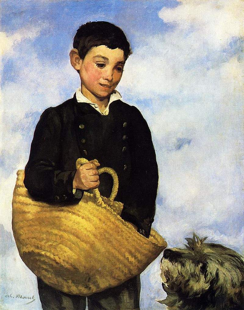 A boy with a dog — Эдуард Мане