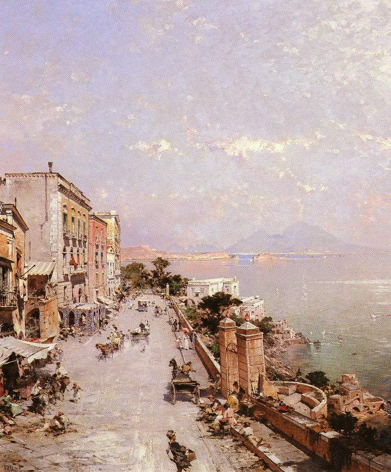 A View of Posilippo, Naples — Франц Рихард Унтербергер