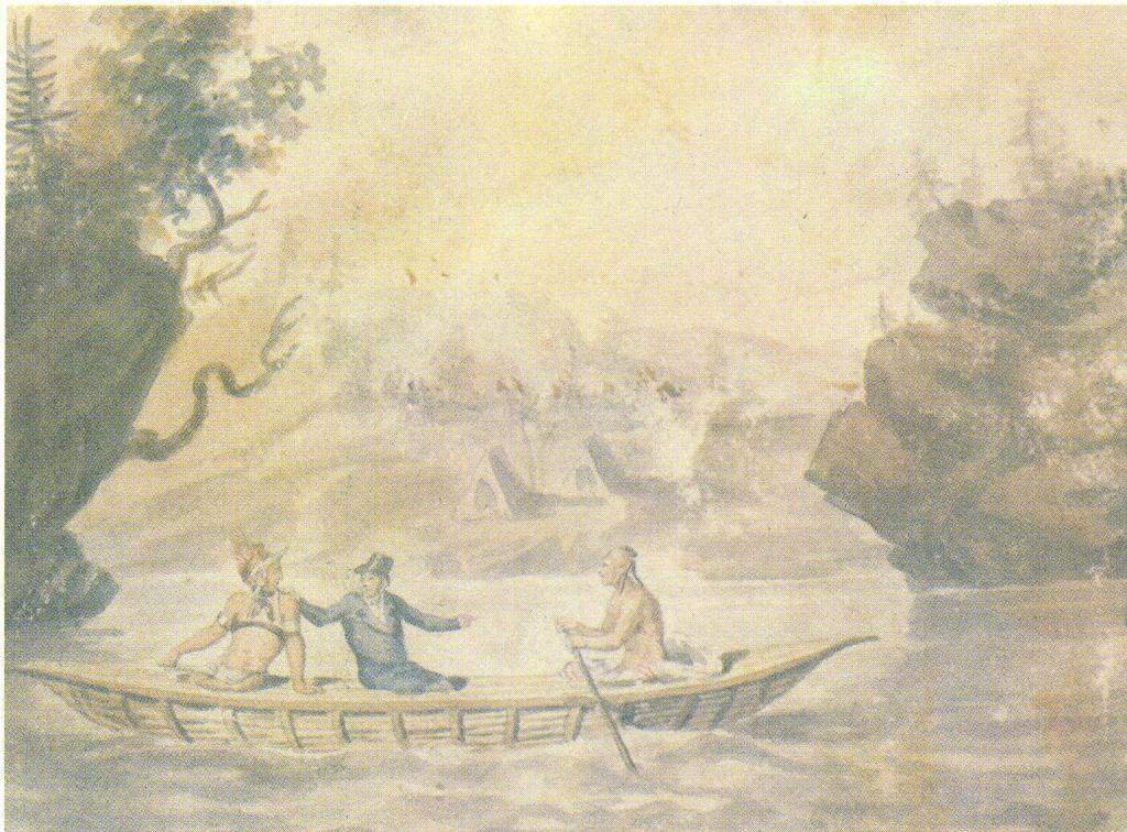 American Indians in the boat — Павел Свиньин