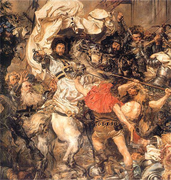 Battle of Grunwald, the death of the Grand Master Ulrich von Jungingen (detail) — Ян Матейко