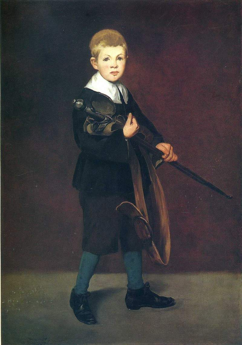 Boy with a sword — Эдуард Мане
