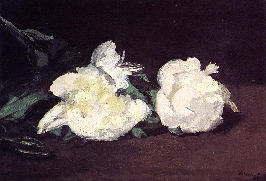 Branch of White Peonies and Secateurs — Эдуард Мане