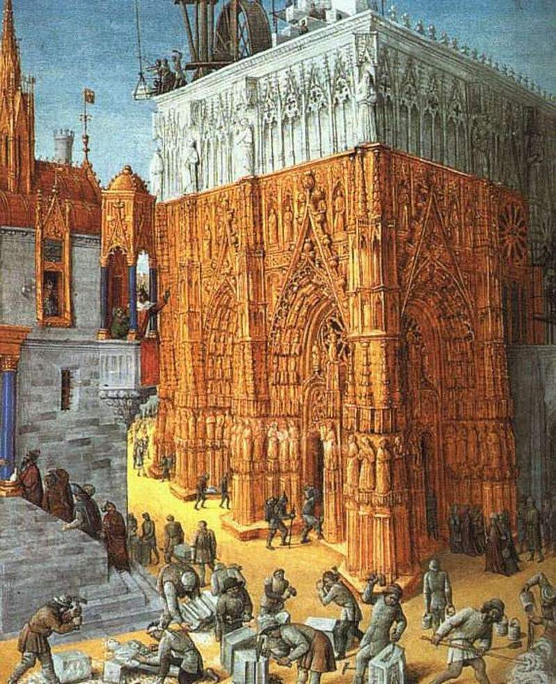 Building of the Temple of Jerusalem — Жан Фуке