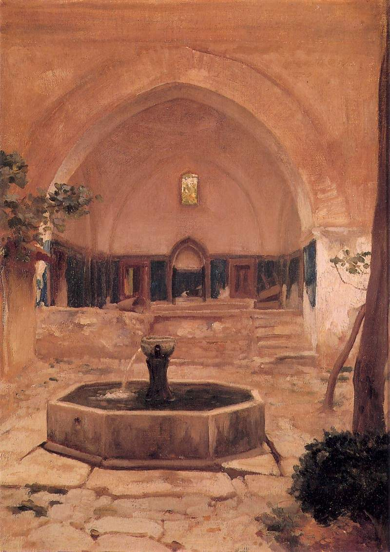 Courtyard of a Mosque at Broussa — Фредерик Лейтон