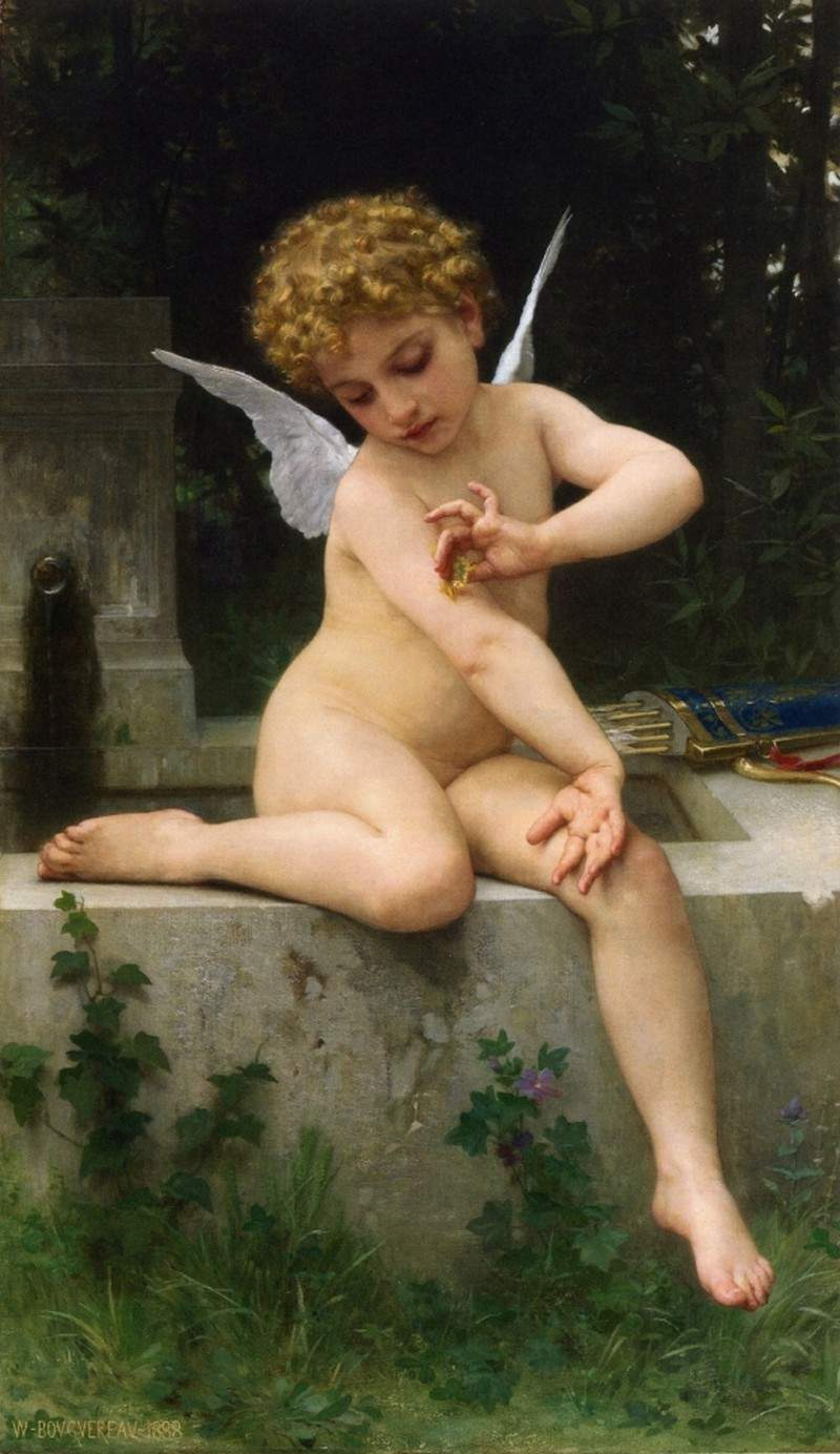 Cupid with Butterfly — Вильям Адольф Бугро