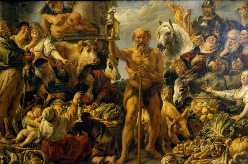 Diogenes Searching for an Honest Man — Якоб Йорданс