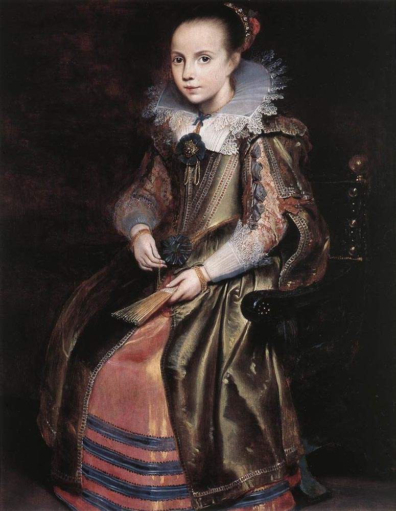 Elisabeth (or Cornelia) Vekemans as a Young Girl — Корнелис де Вос
