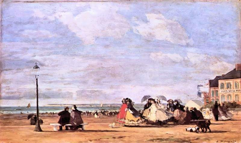Empress Eugenie on the beach at Trouville — Эжен Буден