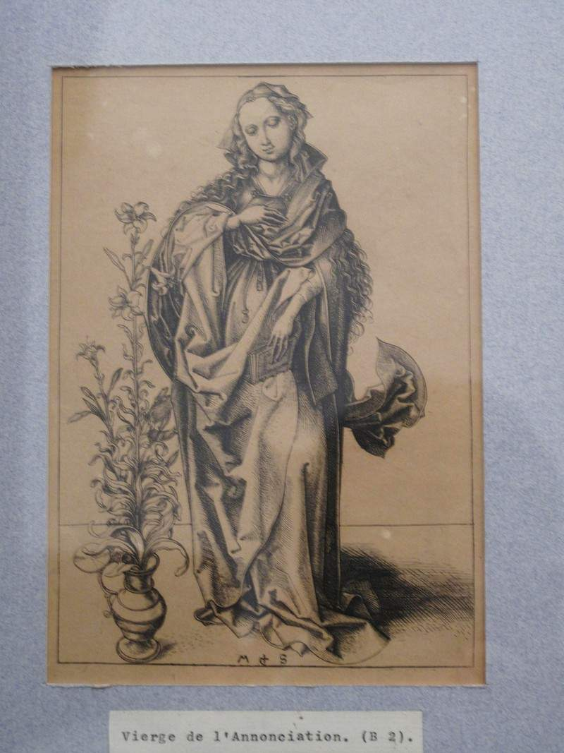 Engraving on copper of the Annunciation — Мартин Шонгауэр