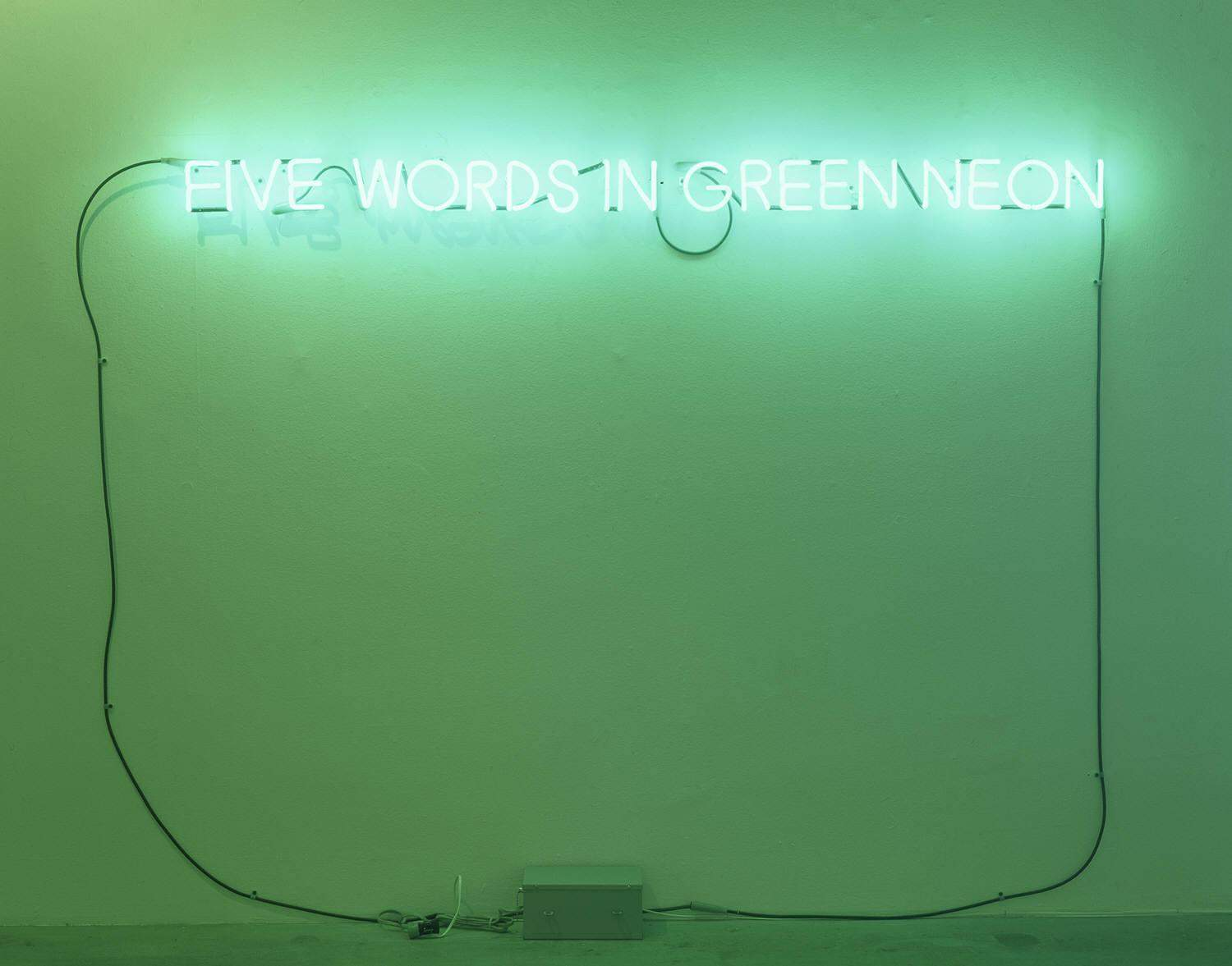 Five Words in Green Neon — Джозеф Кошут