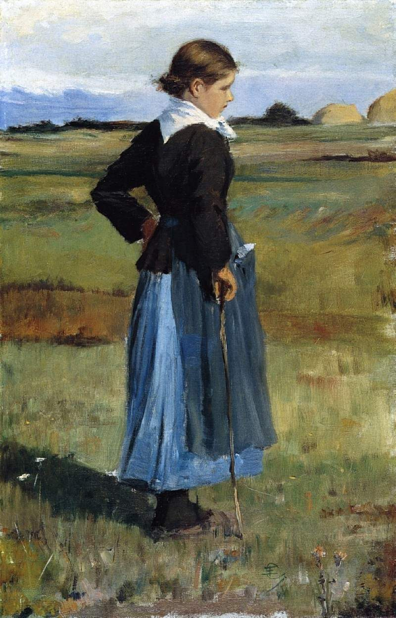 French Peasant Girl — Чайльд Гассам