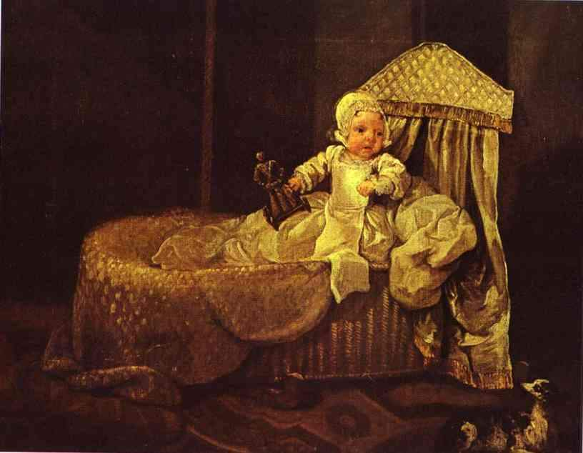 Gerard Anne Edwards in His Cradle — Уильям Хогарт