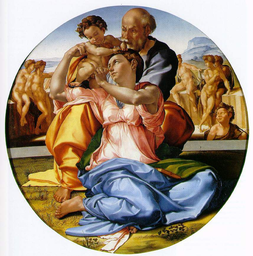 Holy Family with St. John the Baptist — Микеланджело